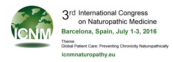3rd International Congress on Naturopathic Medicine: ICNM 2016